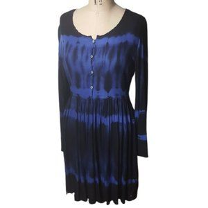 California Moonrise boho tie dye tunic dress